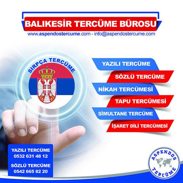 Balıkesir Sırpça Tercüme Hizmeti