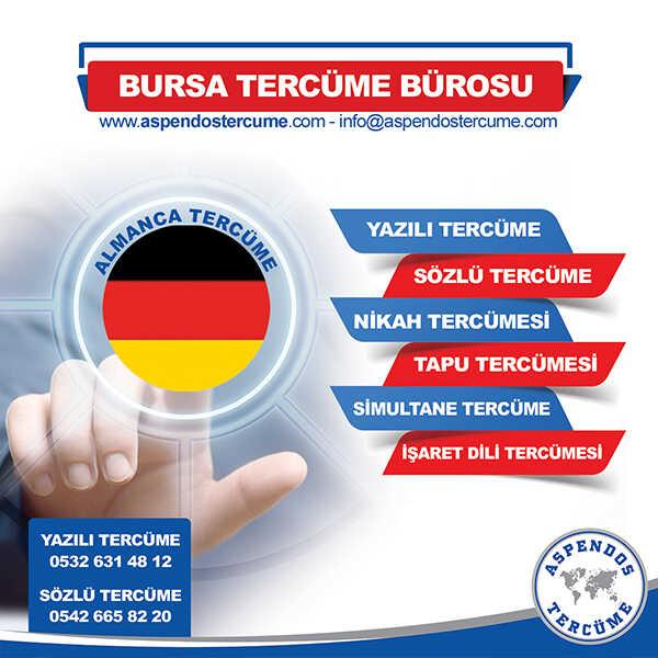 Bursa Almanca Tercüme Hizmeti