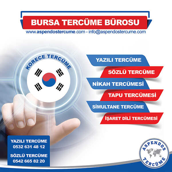 Bursa Korece Tercüme Hizmeti