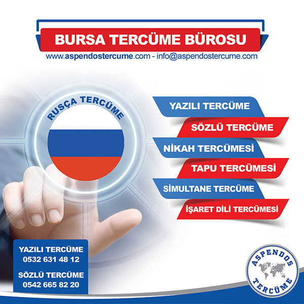Bursa Rusça Tercüme Hizmeti