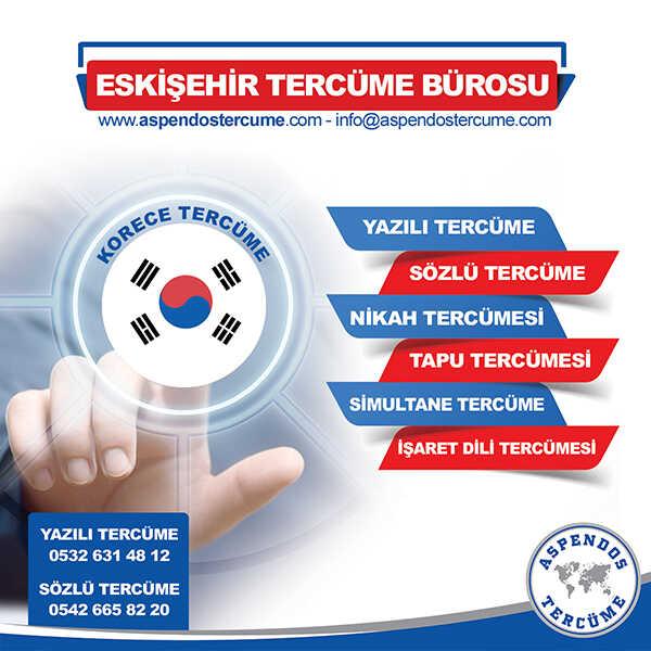 Eskişehir Korece Tercüme Hizmeti