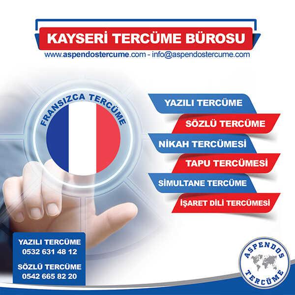Kayseri Fransızca Tercüme Hizmeti