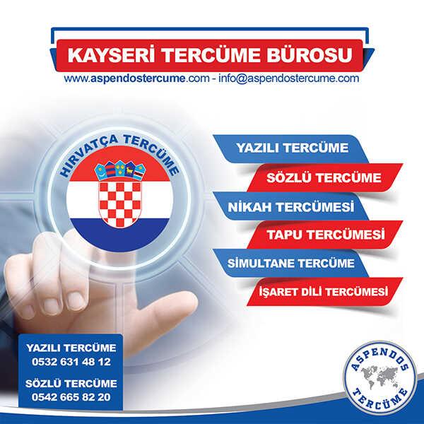 Kayseri Hırvatça Tercüme Hizmeti
