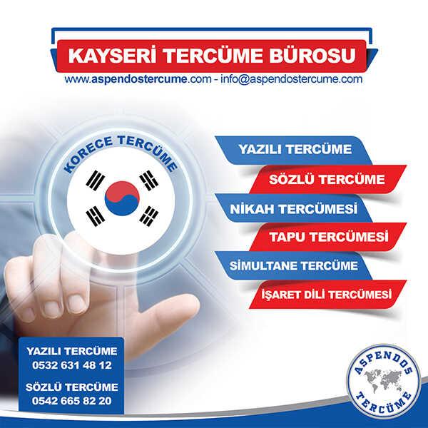 Kayseri Korece Tercüme Hizmeti