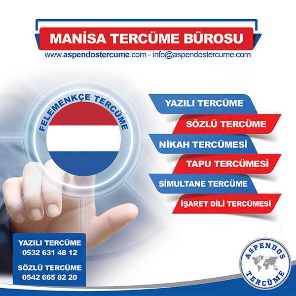 Manisa Felemenkçe Tercüme Hizmeti